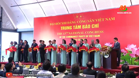 Khai trương Trung tâm Báo chí Đại hội XIII của Đảng