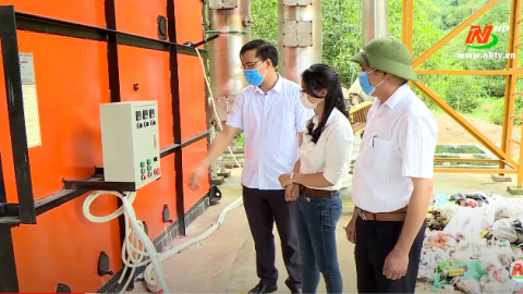 Khoa học kỹ thuật và công nghiệp:  Xử lý chất thải sinh hoạt bằng lò đốt rác CNC 330 tại xã Gia Hưng