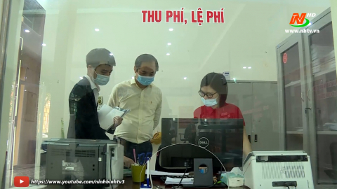 Kiểm tra hoạt động bộ phận Một cửa tại Yên Khánh và Yên Mô