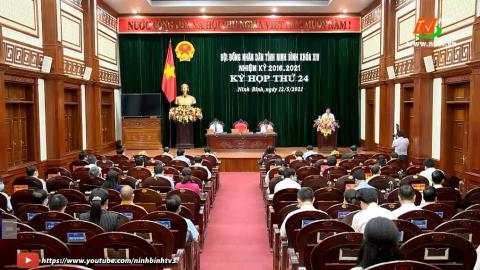 Kỳ họp thứ 24, HĐND tỉnh khóa XIV, nhiệm kỳ 2016 – 2021.