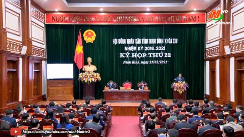 Kỳ họp thứ XXII, HĐND tỉnh Ninh Bình Khóa XIV
