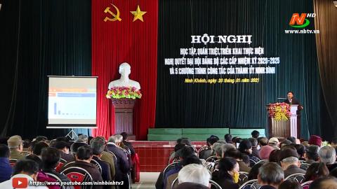 Kỳ vọng của nhân dân TP. Ninh Bình hướng về Đại hội XIII của Đảng