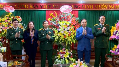 Lãnh đạo Tỉnh chúc mừng kỷ niệm 31 năm ngày thành lập hội Cựu chiến binh Việt Nam