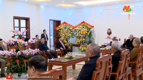 Lãnh đạo tỉnh chúc Tết Tòa giám mục Phát Diệm