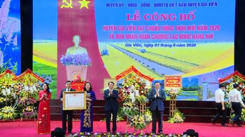 Lễ công bố huyện Gia Viễn đạt chuẩn Nông thôn mới năm 2020; Đón nhận Huân chương Lao động hạng Nhì