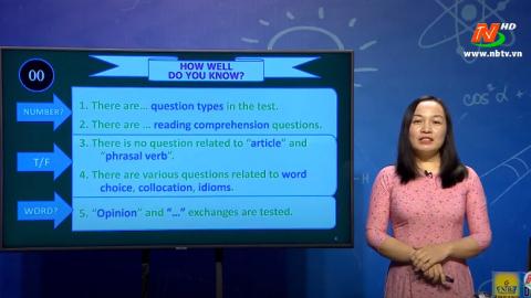 Môn Tiếng Anh - Lớp 12: Theme 8: Reference Test Analysis| Dạy học trên Truyền hình