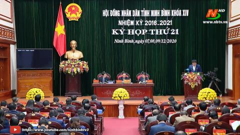 Ngày làm việc thứ ba và Bế mạc Kỳ họp thứ 21, HĐND tỉnh Ninh Bình khóa XIV