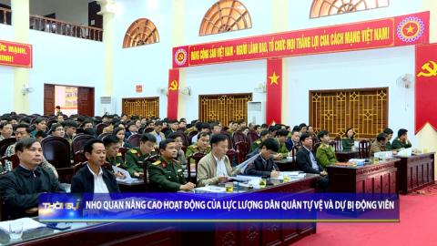 Nho Quan nâng cao hoạt động của lực lượng dân quân tự vệ và dự bị động viên