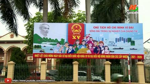 Nho Quan tập trung tuyên truyền cho bầu cử.
