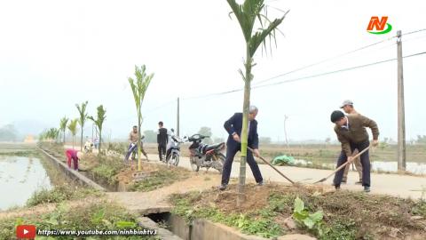 Ninh Thắng thực hiện phong trào trồng và chăm sóc cây xanh
