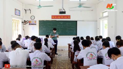 Ôn luyện cho học sinh cuối cấp, đảm bảo yêu cầu phòng, chống dịch.