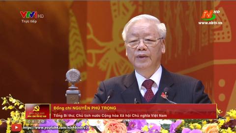 Phát biểu của Tổng Bí thư, Chủ tịch nước Nguyễn Phú Trọng tại khai mạc Đại hội XIII của Đảng
