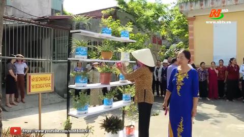 Phụ nữ Ninh Bình chung tay phòng chống rác thải nhựa