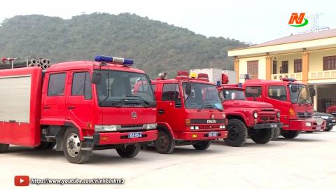 Ra mắt đội chữa cháy và cứu nạn cứu hộ khu vực Tam Điệp
