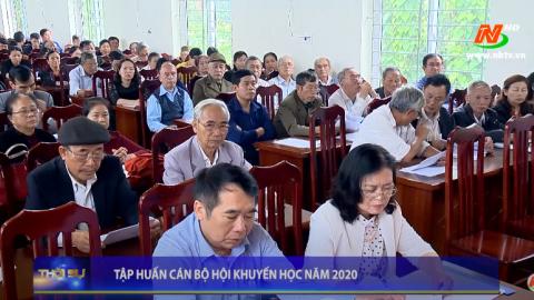 Tập huấn cán bộ Hội khuyến học năm 2020