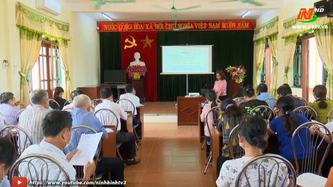 Thành phố Ninh Bình nâng cao nghiệp vụ cho thành viên tổ bầu cử.