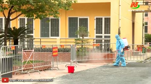Thành phố Ninh Bình tăng cường phòng, chống dịch cho ngày bầu cử.