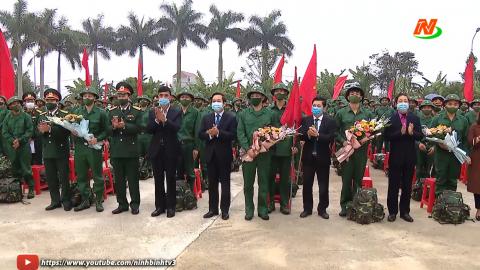 Thành phố Ninh Bình tổ chức lễ giao nhận quân năm 2021