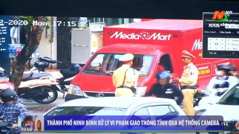 Thành phố Ninh Bình xử lý vi phạm giao thông tĩnh qua hệ thống camera an ninh