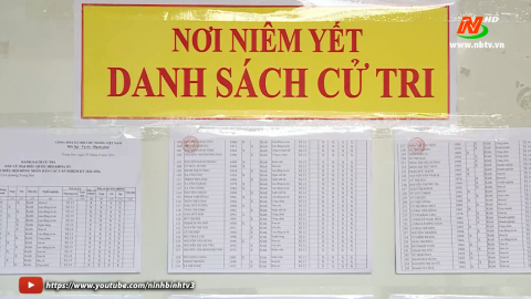 Thành phố Tam Điệp hoàn thành niêm yết danh sách cử tri