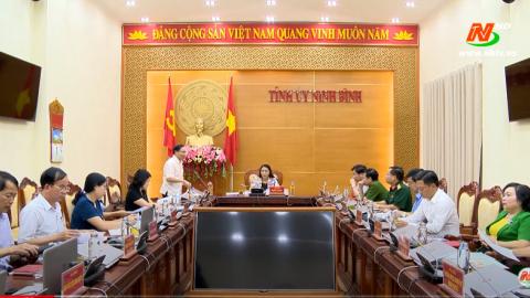 Tỉnh ủy triển khai công tác lãnh đạo thực hiện nhiệm vụ tháng 6/2020