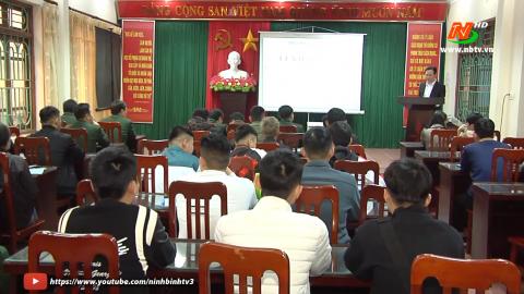 TP. Ninh Bình bồi dưỡng kết nạp Đảng cho thanh niên trước khi nhập ngũ