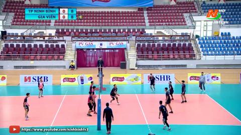Trận tranh giải 3: CLB huyện Gia Viễn - CLB thành phố Ninh Bình - Giải bóng chuyền nam tỉnh Ninh Bình Cup Doveco lần thứ I năm 2020