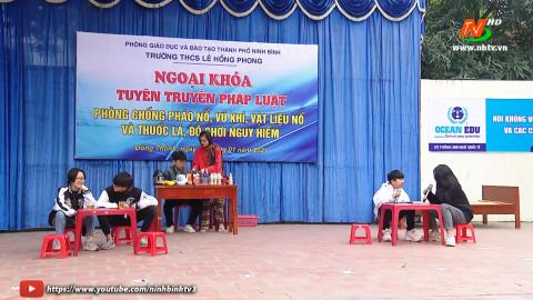 Trường THCS Lê Hồng Phong tổ chức tuyên truyền phổ biến kiến thức pháp luật
