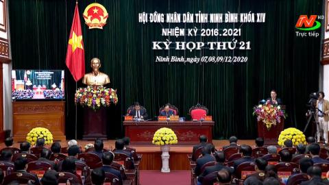 Tường thuật: Kỳ họp thứ 21, Hội đồng nhân dân tỉnh Ninh Bình khóa XIV