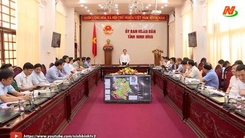UBND tỉnh nghe báo cáo quy hoạch xây dựng vùng huyện Yên Mô