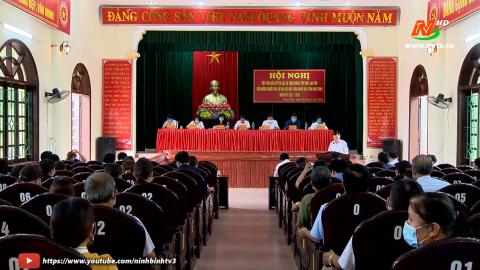 Ứng cử viên đại biểu HĐND tỉnh TXCT tại đơn vị bầu cử số 4 huyện Nho Quan