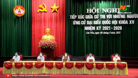 Ứng cử viên Đại biểu Quốc hội đơn vị bầu cử số 1 tiếp xúc cử tri huyện Gia Viễn