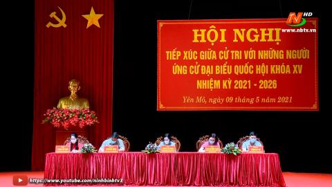 Ứng cử viên đại biểu Quốc hội khóa XV đơn vị bầu cử số 2 tiếp xúc cử tri huyện Yên Mô