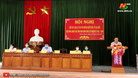 Ứng cử viên ĐB HĐND tỉnh khóa XV, đơn vị bầu cử số 12 TXCT huyện Yên Khánh.