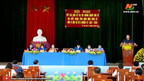 Ứng cử viên ĐB HĐND tỉnh khóa XV, đơn vị bầu cử số 5 TXCT huyện Nho Quan.