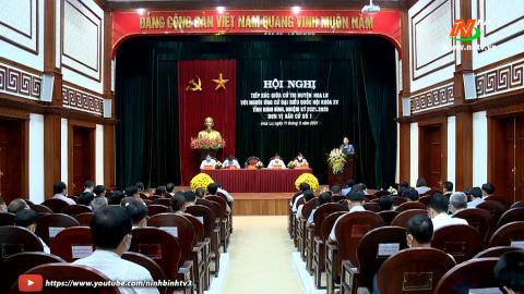 Ứng cử viên ĐBQH khóa XV, đơn vị bầu cử số 1 tiếp xúc cử tri huyện Hoa Lư.