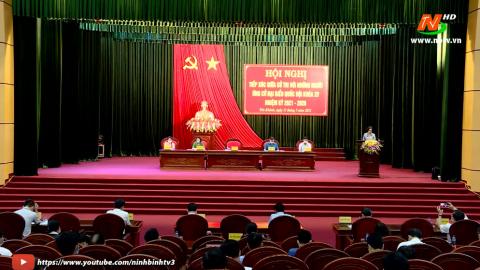 Ứng cử viên ĐBQH khóa XV, đơn vị bầu cử số 2 tiếp xúc cử tri huyện Yên Khánh.