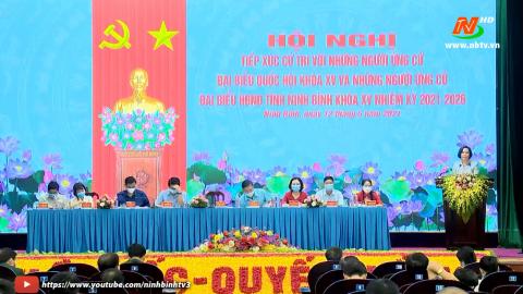 Ứng cử viên ĐBQH và ứng cử viên đại biểu HĐND tỉnh khóa XV tiếp xúc cử tri Quân đoàn 1.