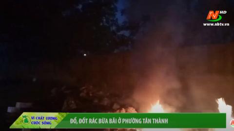 Vì chất lượng cuộc sống: Đổ, đốt rác thải bừa bãi ở phường Tân Thành