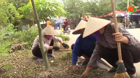 Vì chất lượng cuộc sống: Người dân tích cực bảo vệ môi trường trong xây dựng NTM