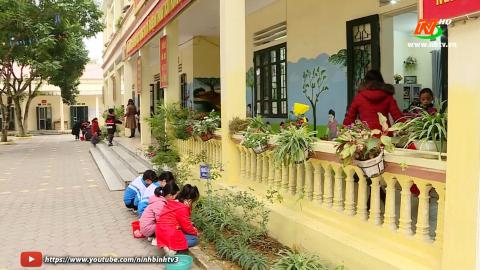 Vì chất lượng cuộc sống: Xanh hóa trong Trường TH Lê Hồng Phong
