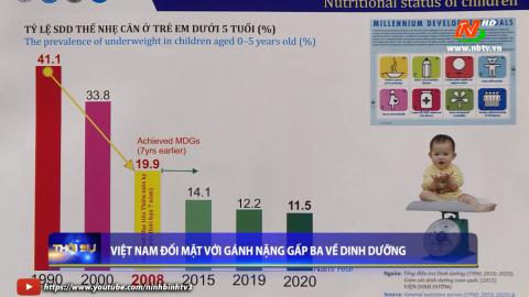 Việt Nam đối mặt với gánh nặng gấp ba về dinh dưỡng.