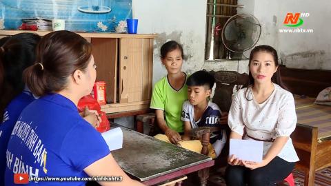 Vòng tay nhân ái: Hỗ trợ bà Vũ Thị Thanh, xã Khánh Dương, huyện Yên Mô