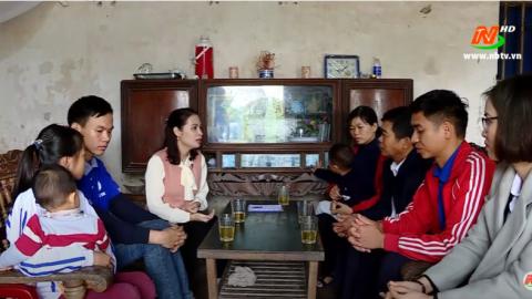 Vòng tay nhân ái: Hỗ trợ gia đình anh Đinh Văn Luân, xã Khánh Mậu, huyện Yên Khánh