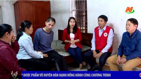 Vòng tay nhân ái: Hỗ trợ gia đình anh Trần Văn Thạnh xã Khánh Hội, huyện Yên Khánh