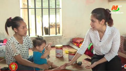 Vòng tay nhân ái: Hỗ trợ gia đình chị Vũ Thị Hiền, xã Đồng Hướng, huyện Kim Sơn