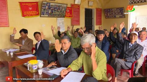 Yên Khánh: Các khu dân cư thực hiện quy trình giới thiệu người ứng cử