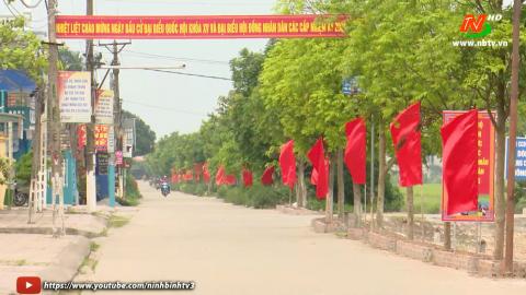 Yên Khánh đẩy mạnh công tác tuyên truyền bầu cử.