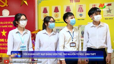 Yên Khánh kết nạp Đảng viên trẻ, tạo nguồn từ học sinh THPT.