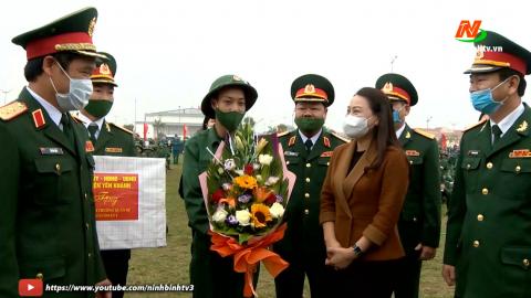 Yên Khánh tổ chức lễ giao nhận quân năm 2021